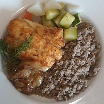 Filet de merlu ( pêche locale) et son farz du