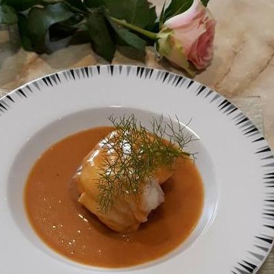 Médaillon de lotte au coulis de homard Breton
