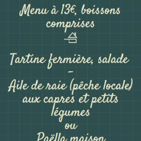 Restaurant, Menus du jour, carte du moment.