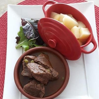 Timbale de bœuf au gingembre