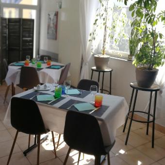 Une des salles du restaurant